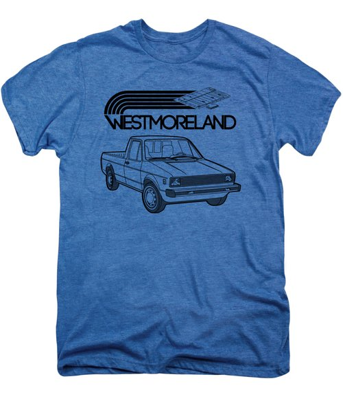 Vw Rabbit Pickup - Westmoreland Theme - Black Men's Premium T-Shirt by Ed Jackson