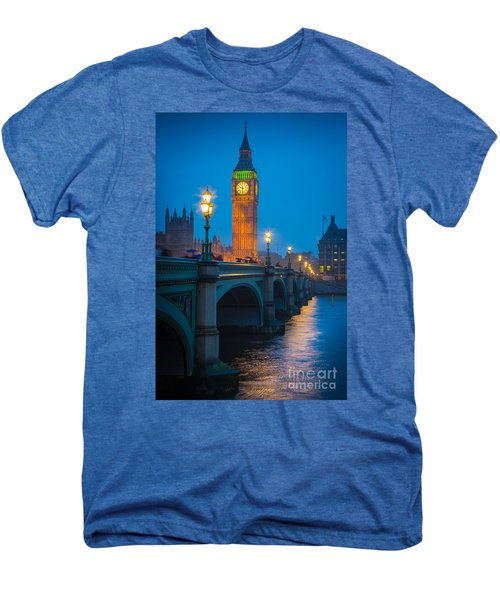 Westminster Bridge At Night Men's Premium T-Shirt