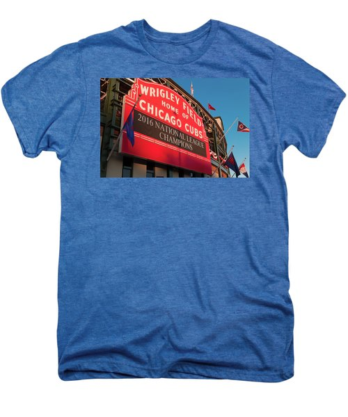 Wrigley Field Marquee Angle Men's Premium T-Shirt by Steve Gadomski