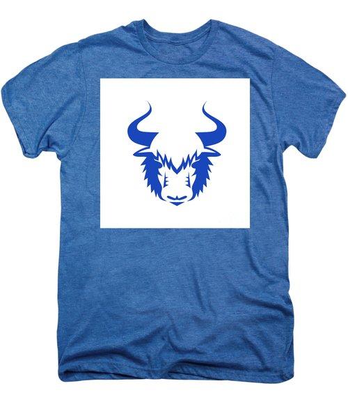 Yak Head Front Retro Men's Premium T-Shirt