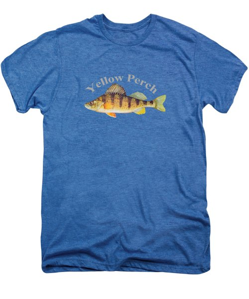 Yellow Perch Fish By Dehner Men's Premium T-Shirt by T Shirts R Us -