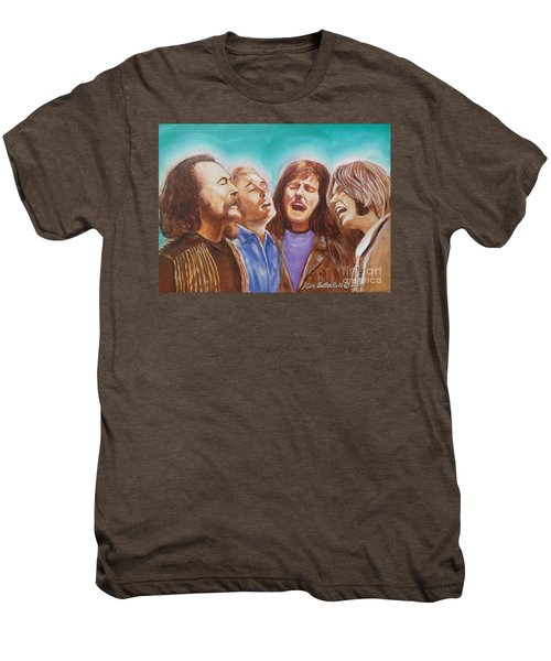 Crosby Stills Nash And Young Men's Premium T-Shirt by Kean Butterfield