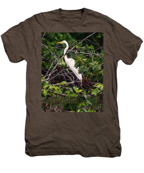 Great White Egret Men's Premium T-Shirt