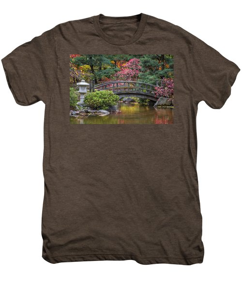 Japanese Bridge Men's Premium T-Shirt by Sebastian Musial