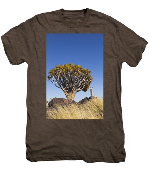 Meerkat In Quiver Tree Grassland Men's Premium T-Shirt