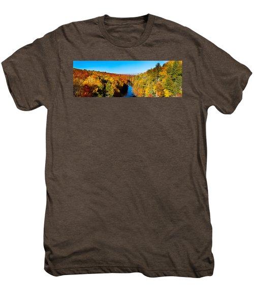 Trees In Autumn At Dead River Men's Premium T-Shirt