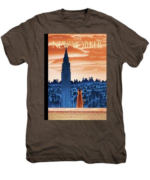 New Yorker January 12th, 2009 Men's Premium T-Shirt