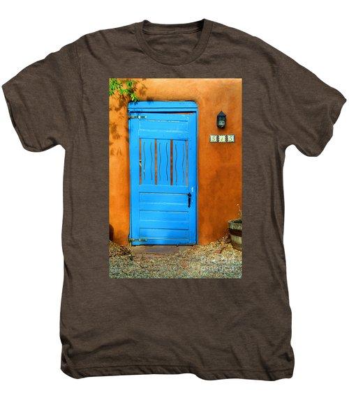 Blue Door In Santa Fe Men's Premium T-Shirt