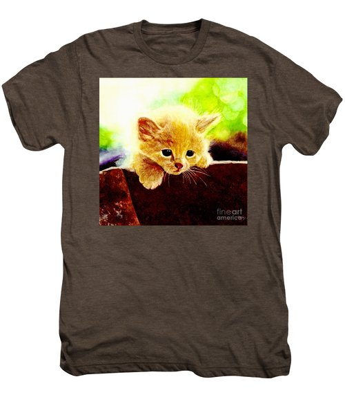 Yellow Kitten Men's Premium T-Shirt