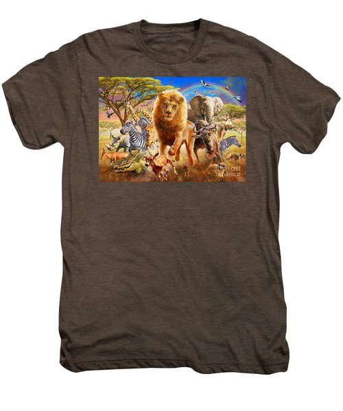 African Stampede Men's Premium T-Shirt by Adrian Chesterman