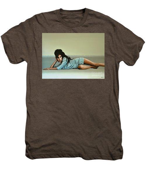 Amy Winehouse 2 Men's Premium T-Shirt by Paul Meijering