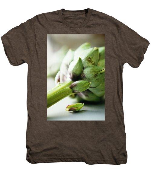 An Artichoke Men's Premium T-Shirt by Romulo Yanes