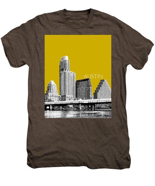 Austin Texas Skyline - Gold Men's Premium T-Shirt