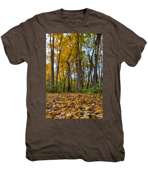 Men's Premium T-Shirt featuring the photograph Autumn Is Here by Sebastian Musial