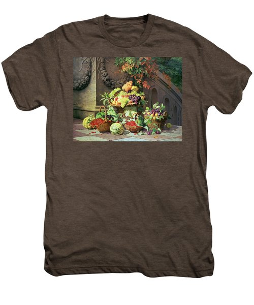 Baskets Of Summer Fruits Men's Premium T-Shirt by William Hammer