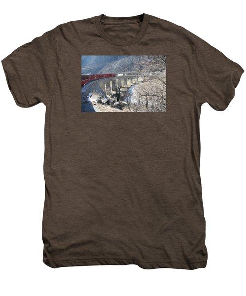 Bernina Express In Winter Men's Premium T-Shirt