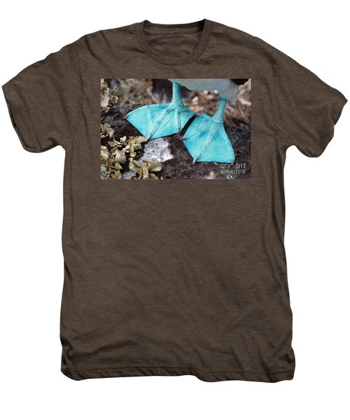 Blue-footed Booby Feet Men's Premium T-Shirt by Ron Sanford