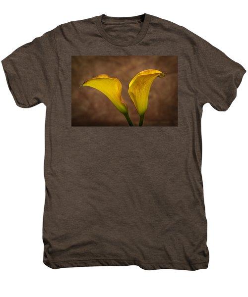 Men's Premium T-Shirt featuring the photograph Calla Lilies by Sebastian Musial