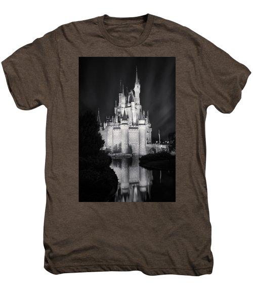 Cinderella's Castle Reflection Black And White Men's Premium T-Shirt