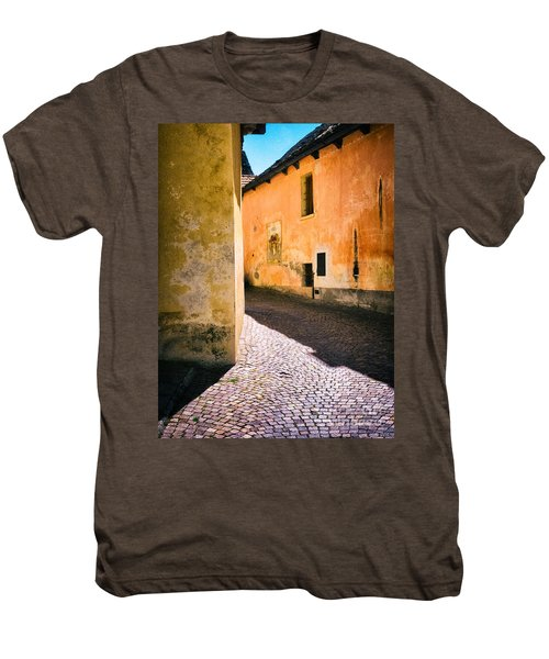 Men's Premium T-Shirt featuring the photograph Cobbled Street by Silvia Ganora