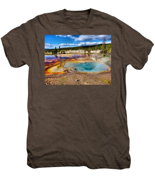 Colors Of Yellowstone National Park Men's Premium T-Shirt