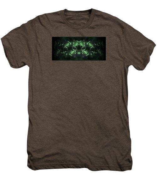 Cosmic Alien Eyes Green Men's Premium T-Shirt