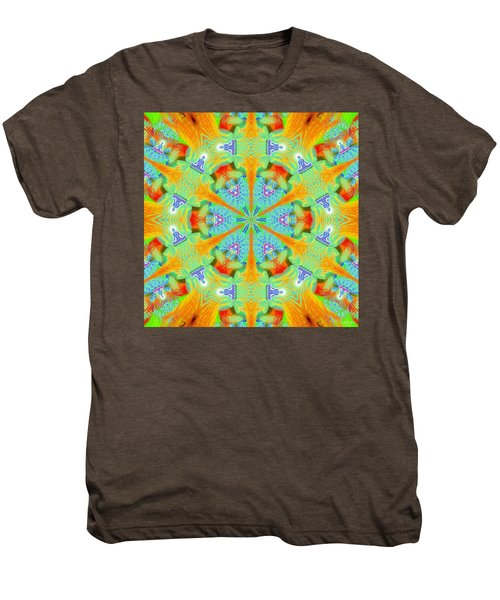 Cosmic Spiral Kaleidoscope 41 Men's Premium T-Shirt