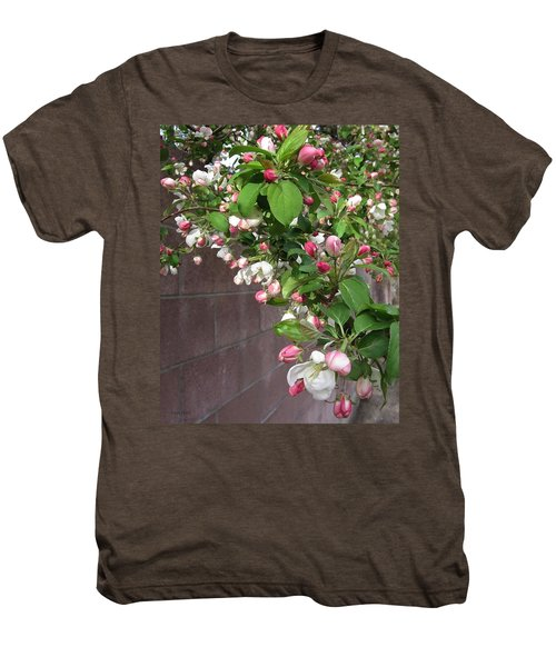 Crabapple Blossoms And Wall Men's Premium T-Shirt