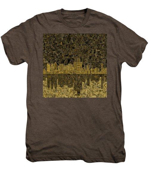 Dallas Skyline Abstract 3 Men's Premium T-Shirt
