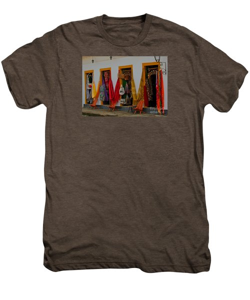 Men's Premium T-Shirt featuring the photograph Decorated Doorways by Nareeta Martin
