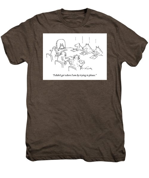 Dogs At A Meeting Men's Premium T-Shirt