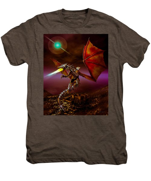 Dragon Rider Men's Premium T-Shirt by Bob Orsillo