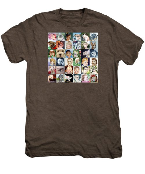 Facebook Of Faces Men's Premium T-Shirt