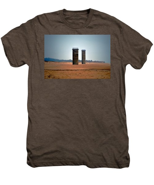Fct5 And Fct6 Fire Control Towers On The Beach Men's Premium T-Shirt