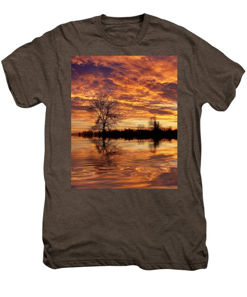 Fire Painters In The Sky Men's Premium T-Shirt