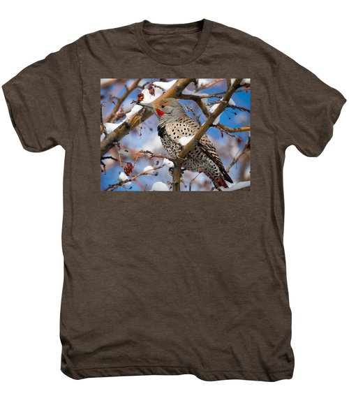 Flicker In Snow Men's Premium T-Shirt