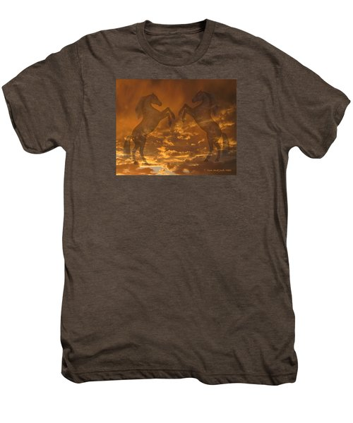 Ghost Horses At Sunset Men's Premium T-Shirt