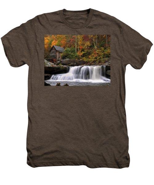 Glade Creek Grist Mill - Photo Men's Premium T-Shirt