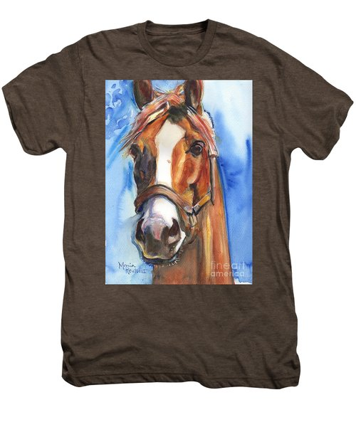Horse Painting Of California Chrome Go Chrome Men's Premium T-Shirt