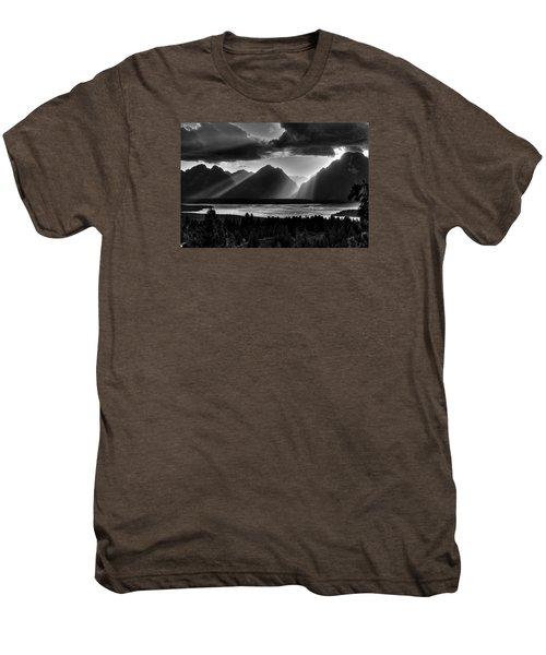 Grand Teton Light Beams Men's Premium T-Shirt