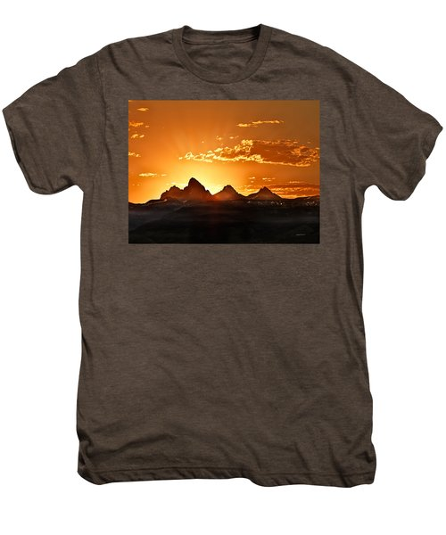Grand Teton Sunrise Men's Premium T-Shirt