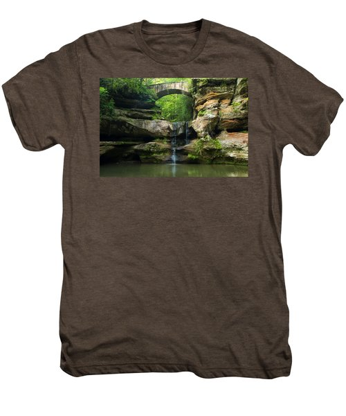Hocking Hills Waterfall 1 Men's Premium T-Shirt
