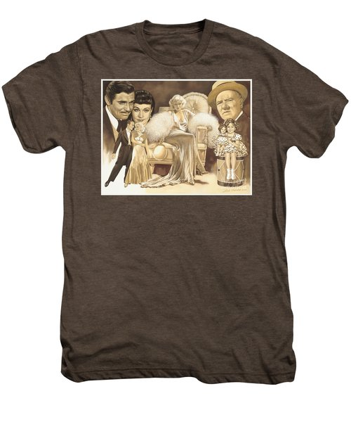 Hollywoods Golden Era Men's Premium T-Shirt by Dick Bobnick