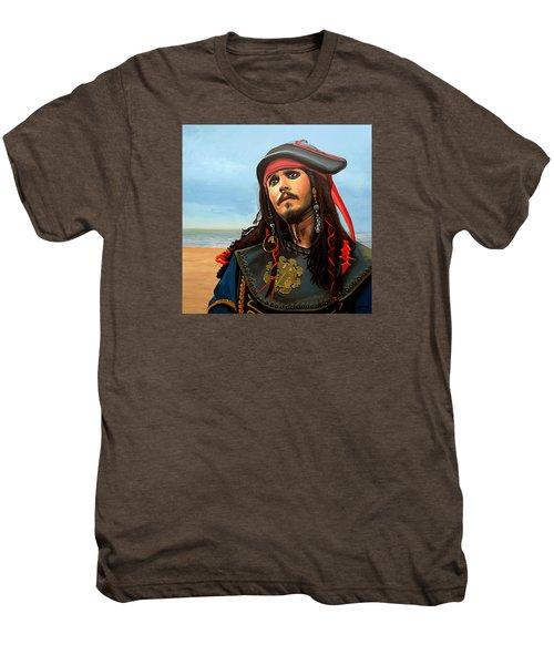 Johnny Depp As Jack Sparrow Men's Premium T-Shirt