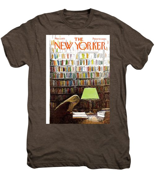 Late Night At The Library Men's Premium T-Shirt