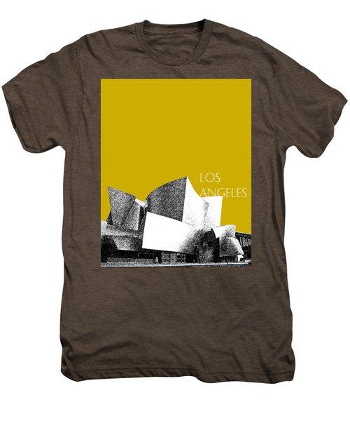 Los Angeles Skyline Disney Theater - Gold Men's Premium T-Shirt