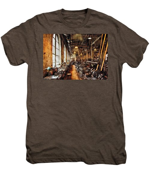 Machinist - Machine Shop Circa 1900's Men's Premium T-Shirt
