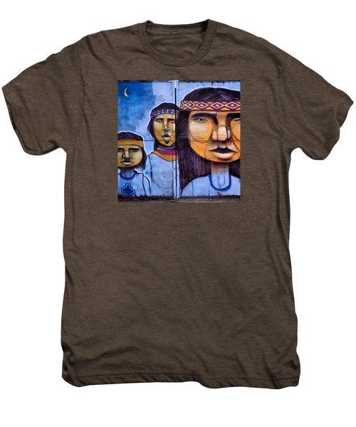 Mapuche Chilean Aborigine Graffiti's Men's Premium T-Shirt