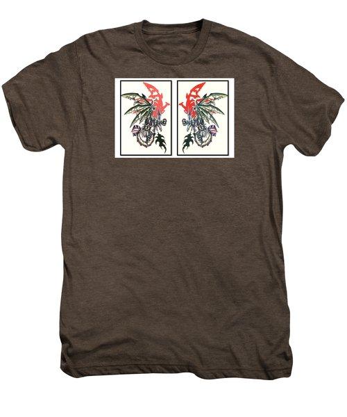 Mech Dragons Collide Men's Premium T-Shirt