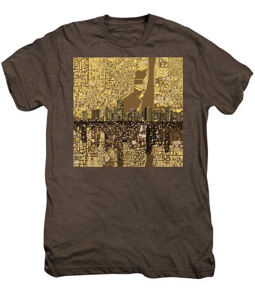 Miami Skyline Abstract 6 Men's Premium T-Shirt